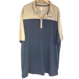 Reebok Golf 3XLT Gray blue snap button polo shirt